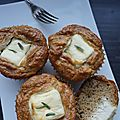 Muffins parmesan carré frais