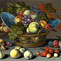 Balthasar van der ast, basket of fruits, 1622