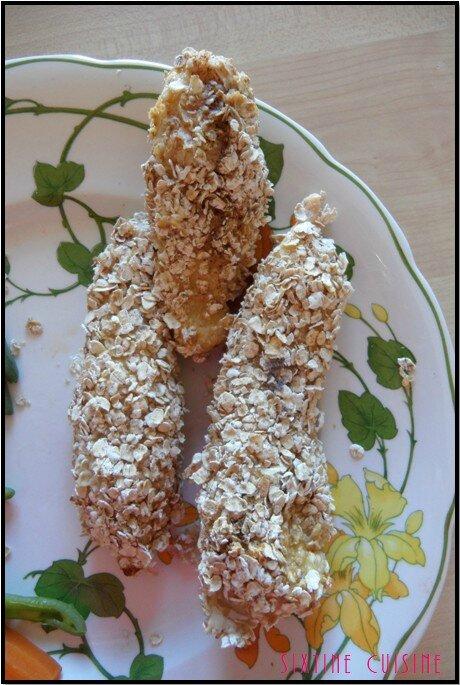 Poulet pané aux flocons d'avoine 2