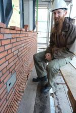 Jochem Kühnen en pleine action sur un chantier