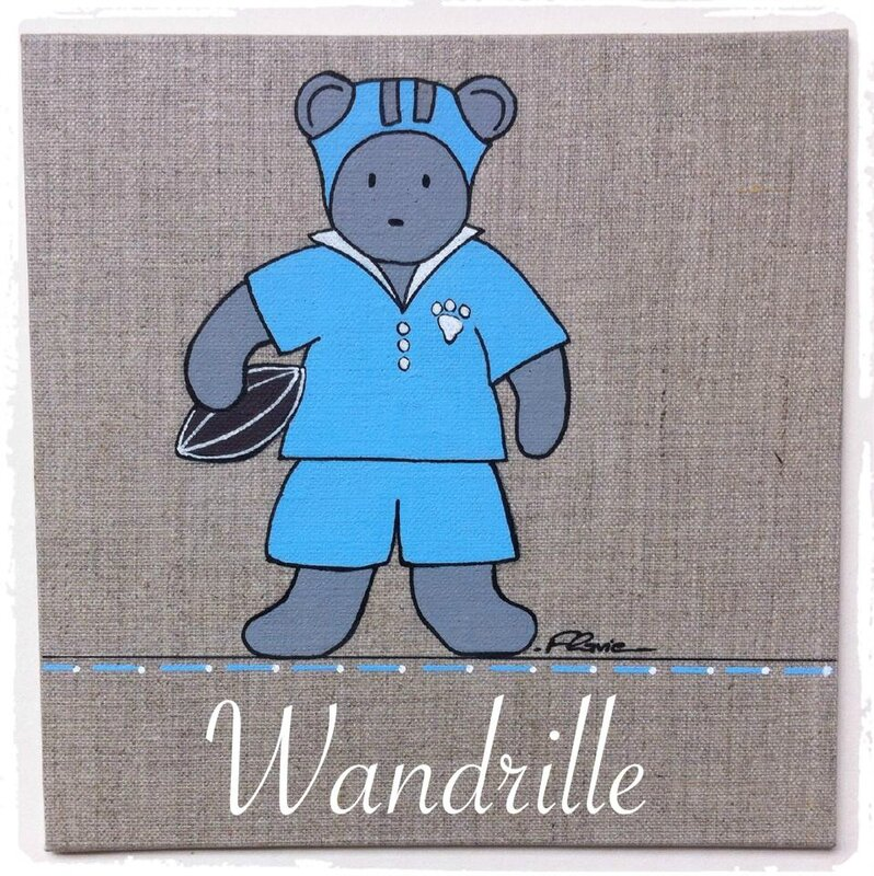 Nounours joue au Rugby