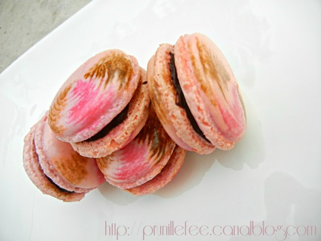 macarons choco framboise prunille