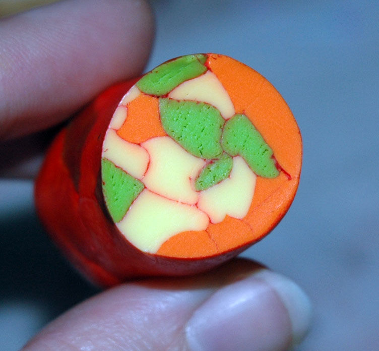 Cane fausse pierre colorée