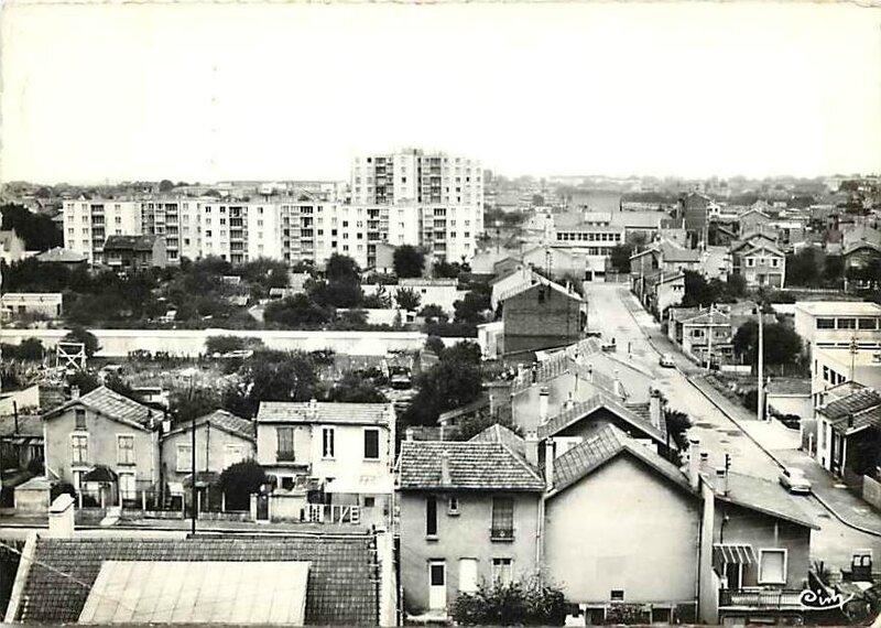 vue sur le quartier de la Boissière dans les années 60