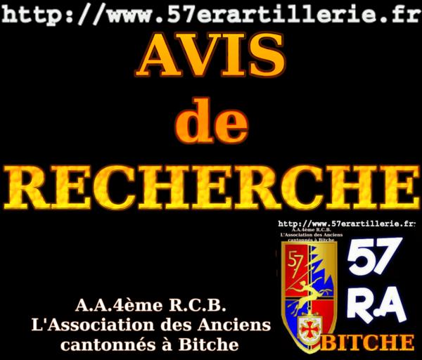 AVIS de RECHERCHE 01