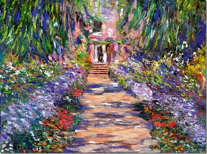 Giverny d'apr ¿s Monet40x30