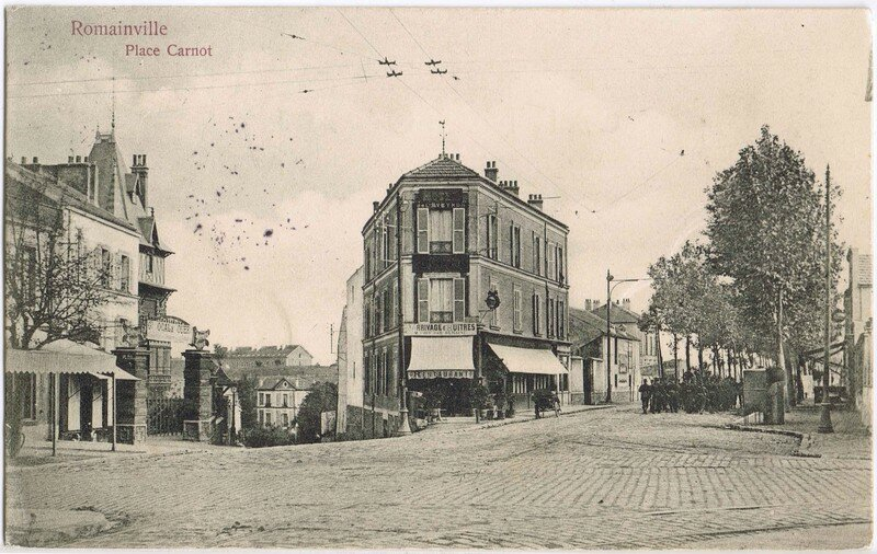 place carnot romainville photo de cartes postales anciennes association de d fense du centre. Black Bedroom Furniture Sets. Home Design Ideas
