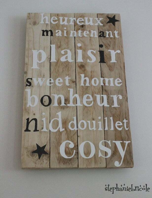 Diy d co murale r cup st phanie bricole for Decoration palette en bois