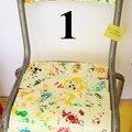 1 numérotée Chaise mosaïque