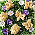 Muffins framboise cœur pâte à tartiner