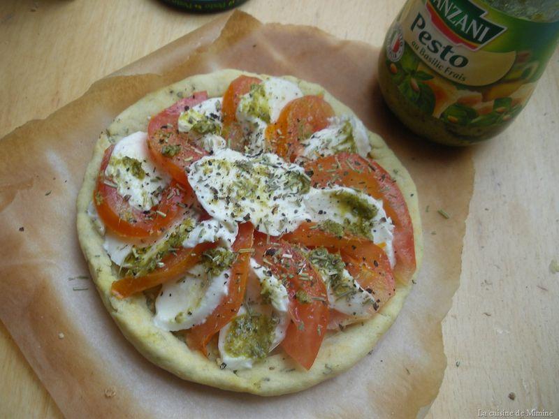 Souvent Tarte fine tomates-mozzarella aux herbes de Provences (pâte brisée  JB88