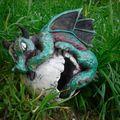 Bébé dragon sur l'oeuf