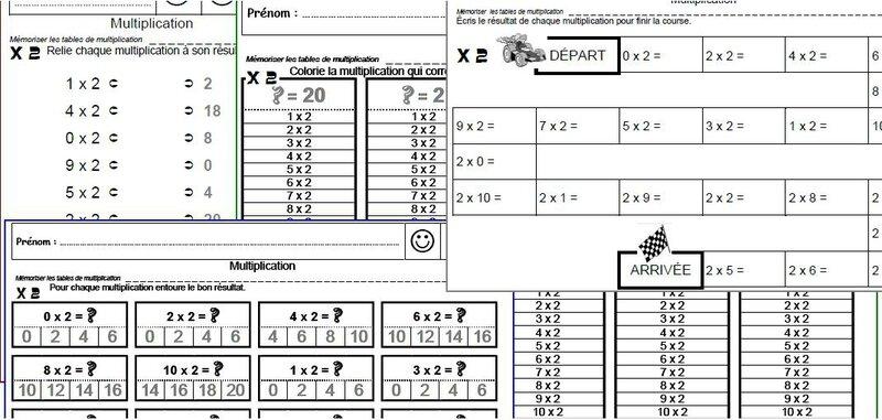 Coloriage magique avec les tables de multiplications - Evaluation tables de multiplication ...