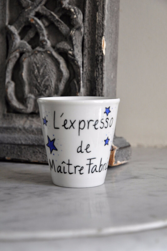 étoiles super maîtresse tasse mug café