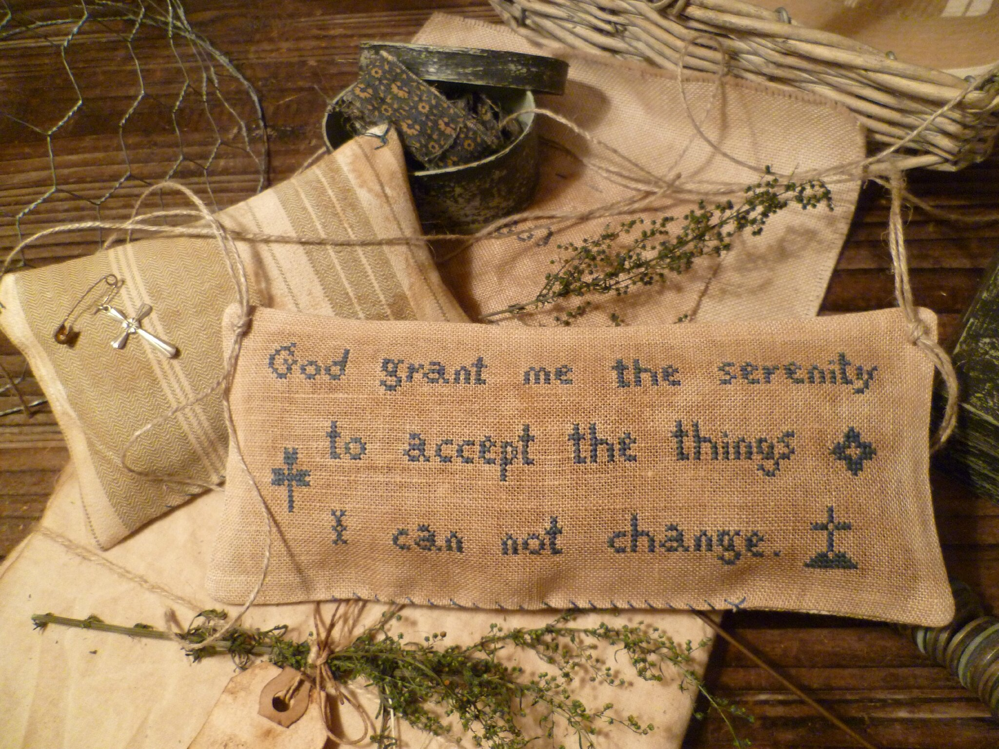 God grant me the serenity Pattern US $ 7.00 CHART Only !