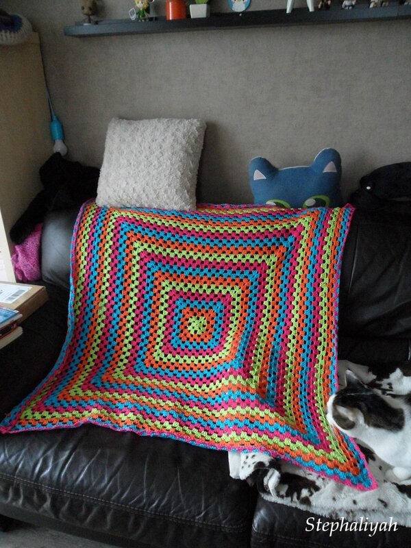Plaid crochet - 5