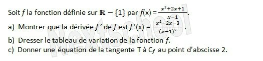 1ere derivation application aux variations 4 5