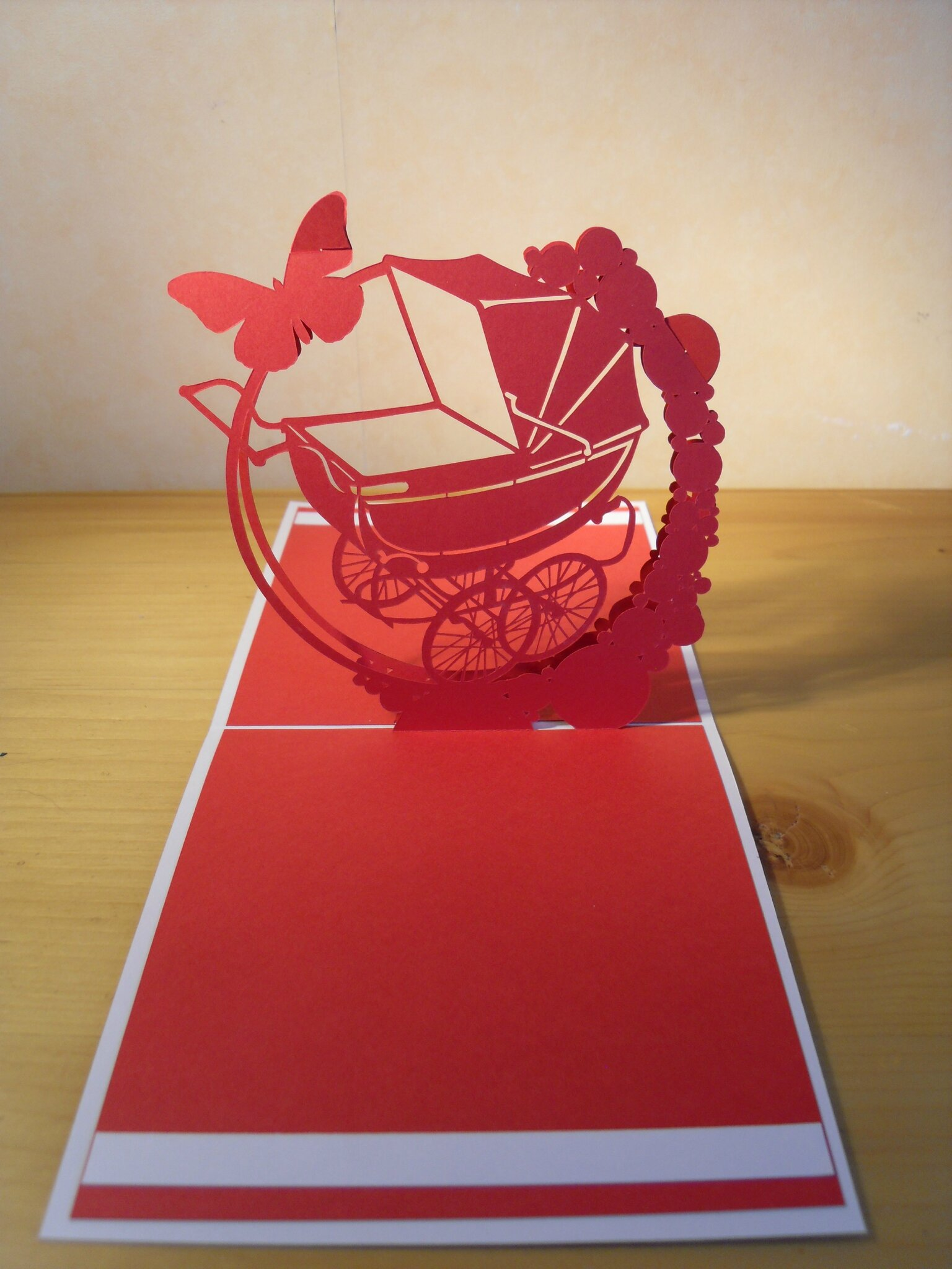 faire part bapteme kirigami