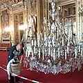 Nettoyage et restauration de lustre baroque à pampilles