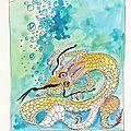 Dragon obsession- dessin et haïku n°217