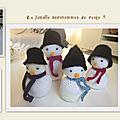 Famille bonshommes de neige