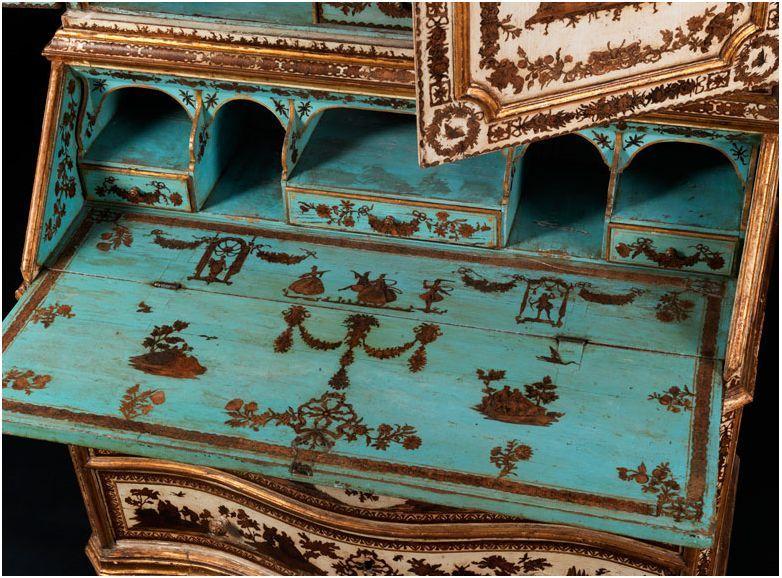 Meuble peint italien en arte povera regard d 39 antiquaire for Meuble japonais ancien