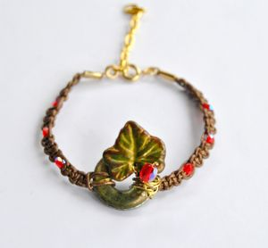 Pour_SS_bracelet_cuir_bronze_feuille_de_vigne_et_rondelle