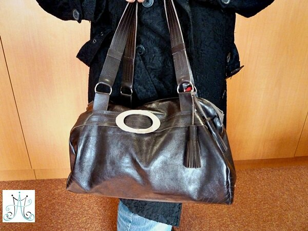 Mag Attack - Sac en cuir marron - Julie18