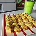 Palets d'omelette aux courgettes et oignons