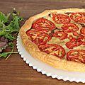 Tarte fine aux tomates, comté & moutarde à l'ancienne d'ursula