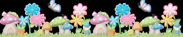 Champignons et fleurs