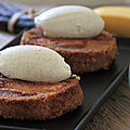 Crousti-moelleux bananes et chantilly vanille-coco