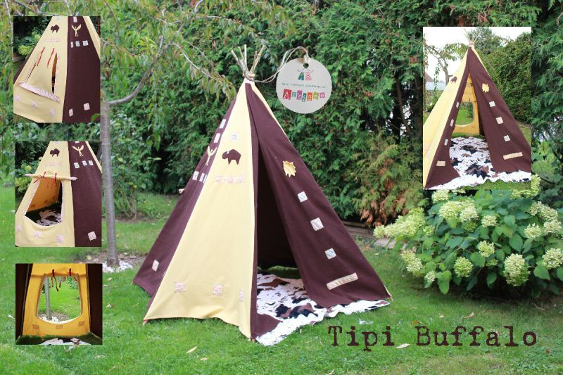 fabriquer un tipi pour enfant tipi enfant exterieur. Black Bedroom Furniture Sets. Home Design Ideas