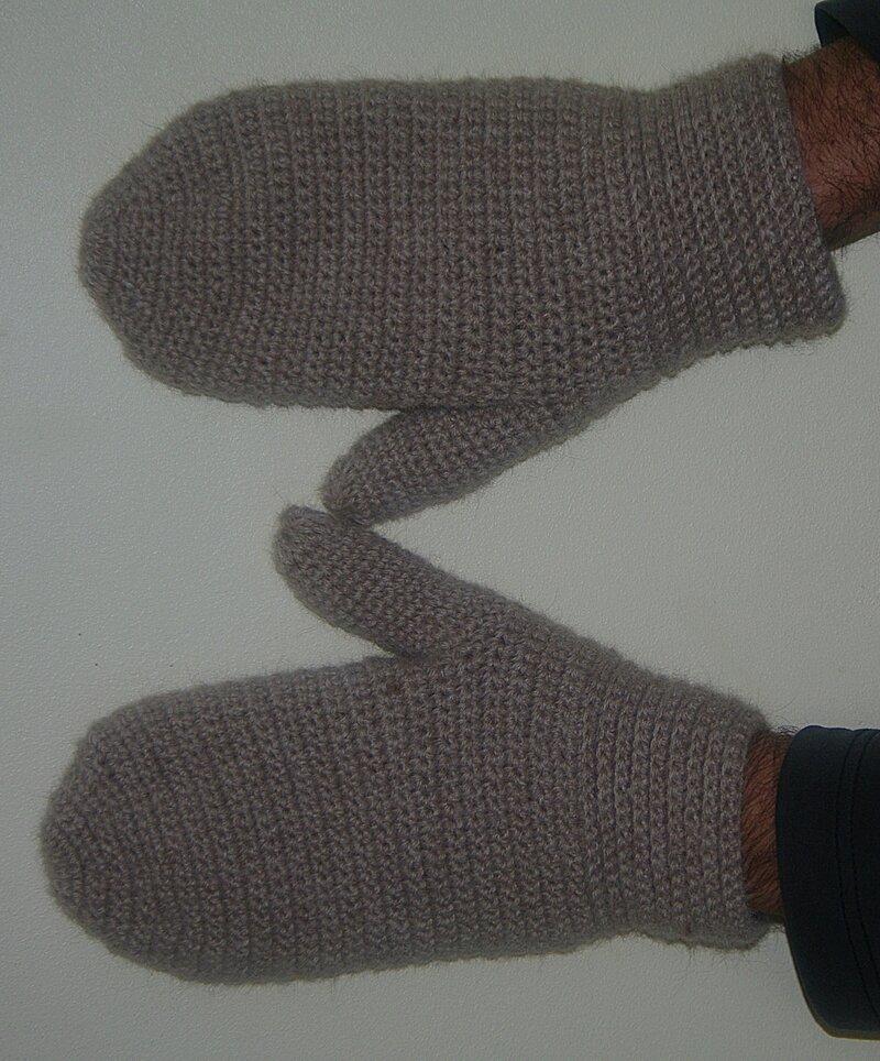 moufles pour homme au crochet