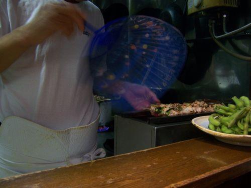 la préparation des yakitori!