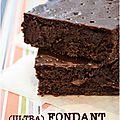 ..ultra fondant au chocolat et à la crème de marron (sans gluten)..