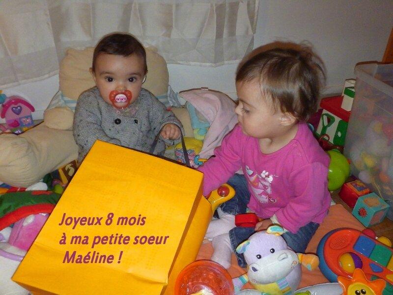 joyeux 8 mois à Maéline