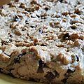 Giant cookie au beurre de cacahuètes