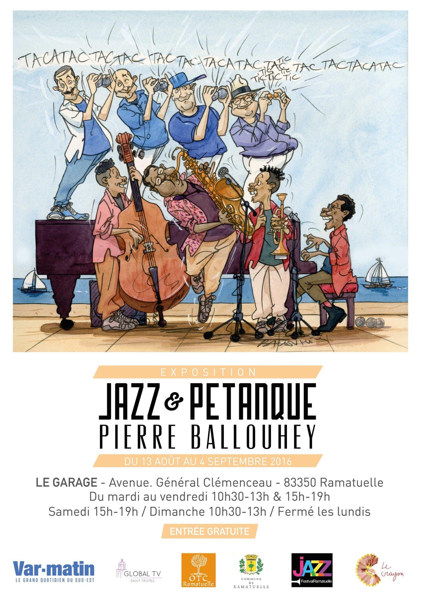 Jazz et Pétanque  Ramatuelle PIERRE BALLOUHEY
