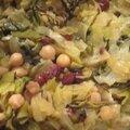 Fondue de poireaux, pois chiche et raisins secs ( vegan, sans gluten)