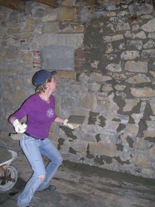 Bye bye les pierres a la boh me r novation d 39 une grange for Recouvrir un mur exterieur abime