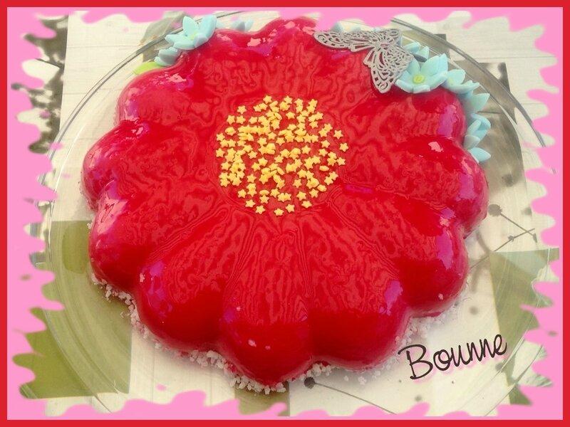 Entremet fleur pistache chocolat (4)