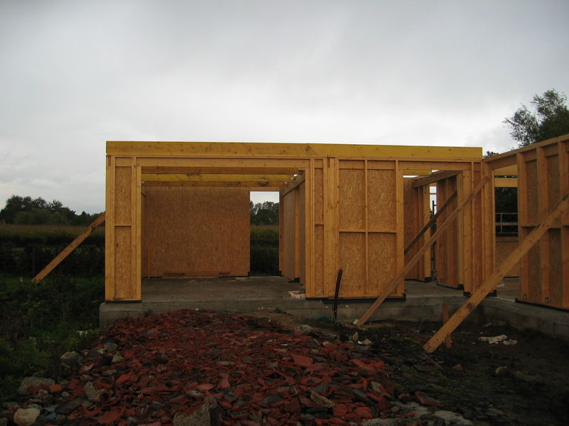 Construction Garage Toit Plat Extension Garage Toit Plat En