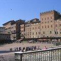 Piazza del campo à Sienne