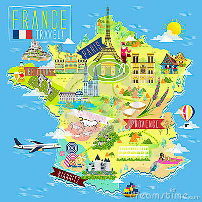 france-travel-map-lovely-attraction-symbols-68370837