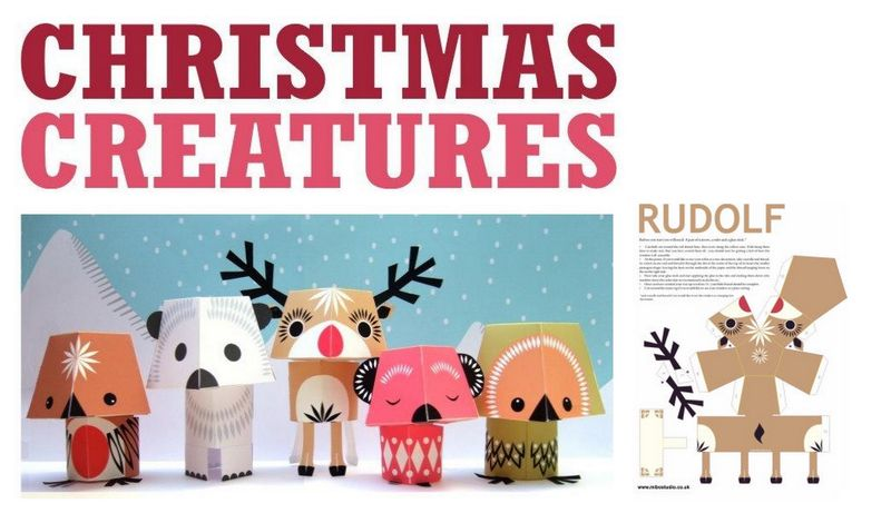 Animaux du grand froid ribambelles ribambins - Decoupage noel gratuit imprimer ...
