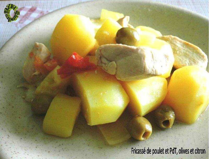 0514 Fricassé de poulet et PdT, olives et citron Couv