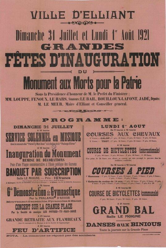 Elliant (Finistère) inauguration