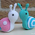 Inspirations....crochet : un escargot tellement mignon