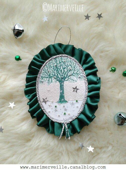 Médaillon arbre vert Marimerveille